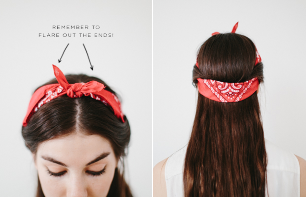 How to wear long scarf in hair