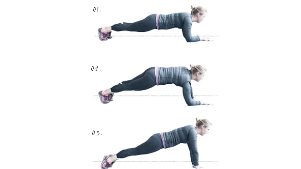fitness, plank exercises