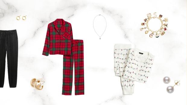 holiday attire flatlay