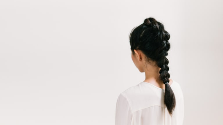 Learn to Do a Feminine and Edgy Fauxhawk Faux Braid