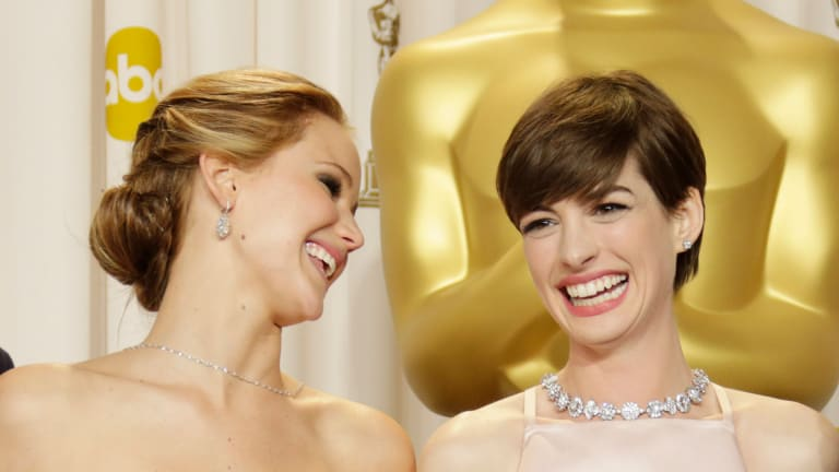 We Love the Way Anne Hathaway Defended Jennifer Lawrence