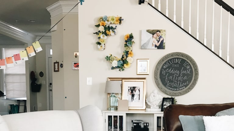 At Home with Her: A Wall for Wedding Memories