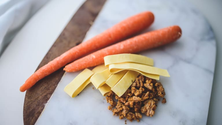 Moussaka Pasta with Dill Carrots