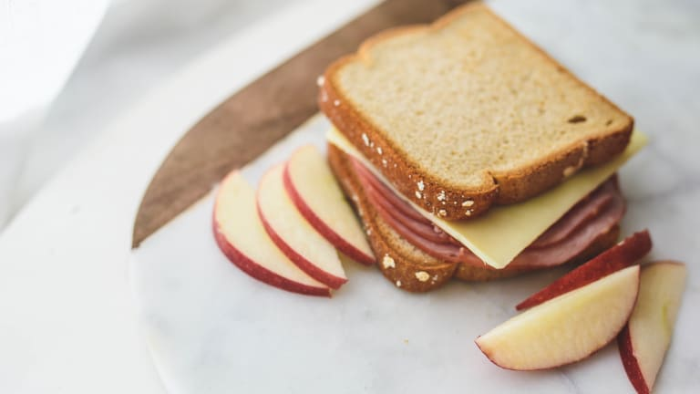 Broiled Open-Face Ham and Cheese Sandwiches