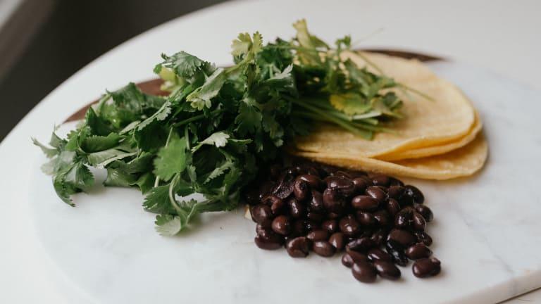 Bean-Salsa-Cilantro Tacos