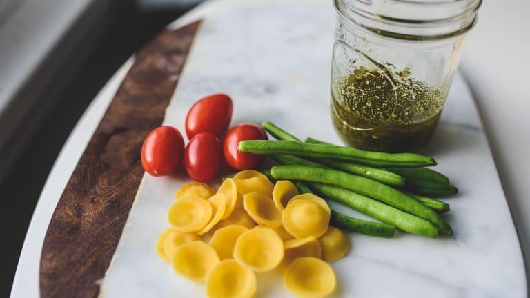 Pesto Shrimp Orecchiette