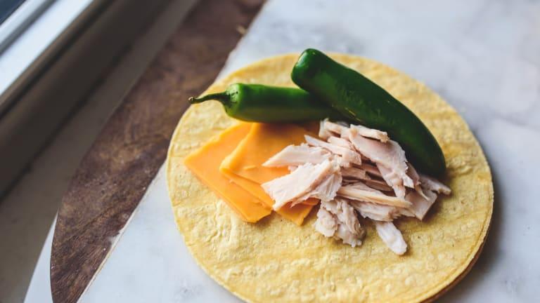 Cheesy Chicken-Green Chile Enchiladas