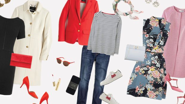 Valentines Day, Valentines Day Outfits, Fashion, Style inspiration, Valentine's Day Style, Red Blazer, LBD, Pink Coat