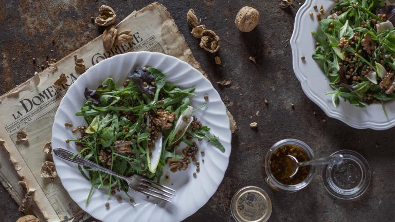 Summer Salad Recipe: Intense Balsamic Lentils & Spinach