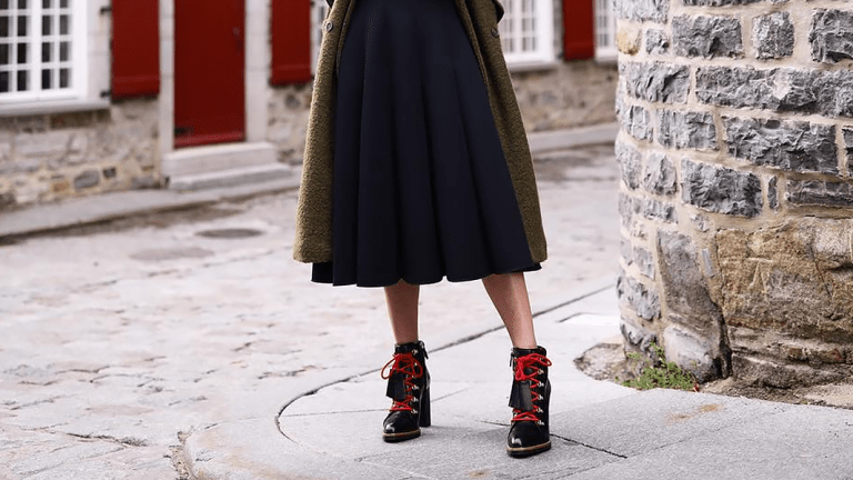 How to Wear Your Winter Boots with Skirts and Dresses