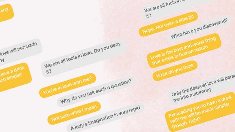 We Messaged Guys on Bumble Using Only Elizabeth Bennet Quotes—Here's What Happened