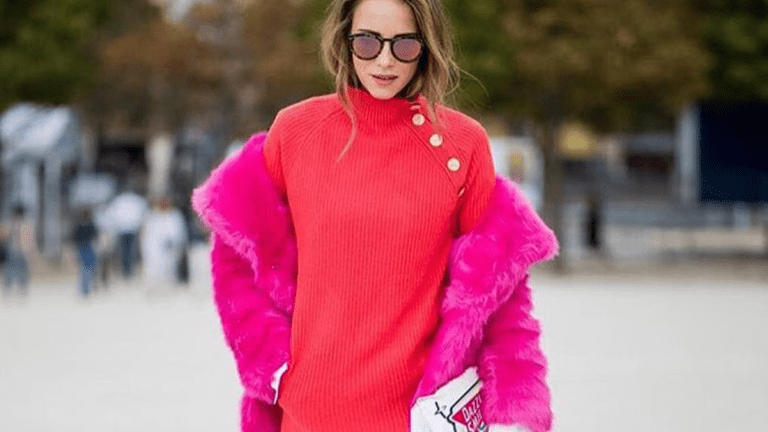 16 Times Colorful Coats Seriously Brightened Up Our Winter Blues