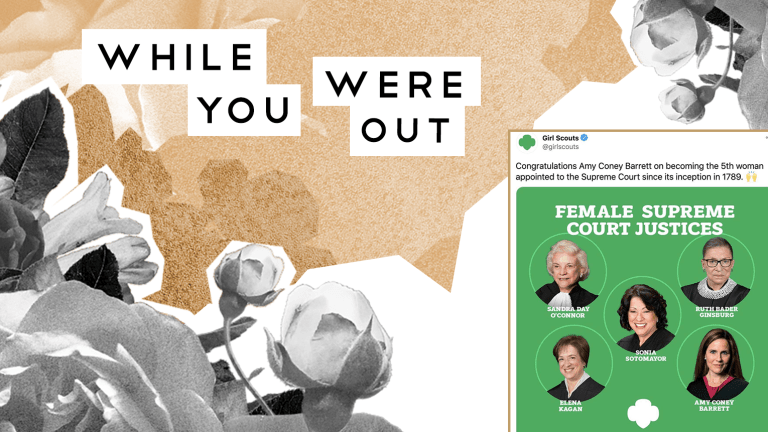 Girl Scouts Un-Congratulate Amy Coney Barrett after Backlash, and Other News From the Week
