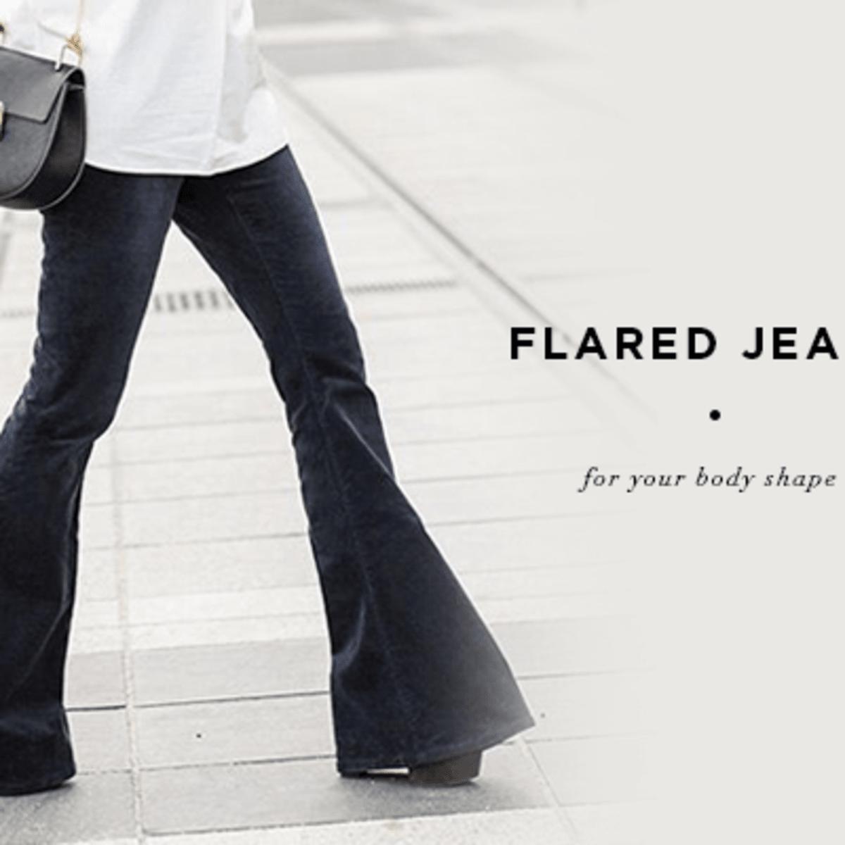 Knee High Flare Jean