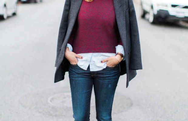 How to thrift for an oversize coat//Image via The Refined Woman