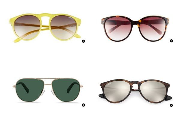1. Nordstrom, $89 / 2. Nordstrom, $69 / 3. Warby Parker, $145 / 4. Ray-Ban, $140