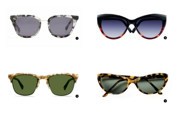 1. Madewell, $55 / 2. Eyefly, $139 / 3. Warby Parker, $145 / 4. Classic Specs, $89
