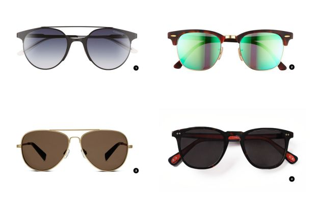 1. Nordstrom, $149 / 2. Nordstrom, $175 / 3. Warby Parker, $145 / 4. Classic Specs, $119