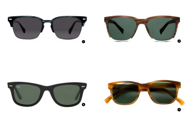 1. Warby Parker, $145 / 2. Warby Parker, $95 / 3. Ray-Ban, $150 / 4. Classic Specs, $89