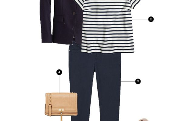 1. J.Crew, $198 / 2. J.Crew Factory, $35 / 3. American Eagle Outfitters, $40 / 4. Asos, $26/ 5. Soludo's, $95