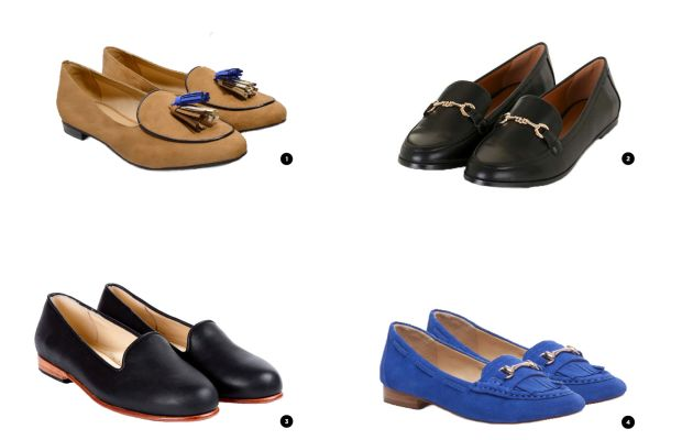 1. Charles & Keith, $ 54/ 2. Top Shop, $48 / 3. Nisolo, $148 / 5. Sole Society, $53