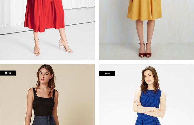 1. & Other Stories, $61 / 2. ModCloth, $50 / 3. Reformation, $178 / 4. Warehouse, $71