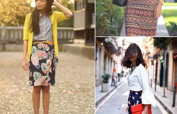 patterned-skirt