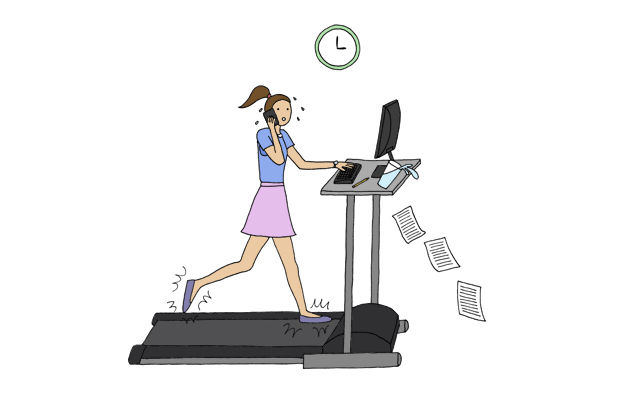 treadmill desk keeping fit at work desk workouts healthy living exercise