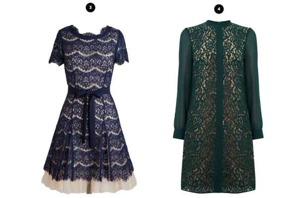 1. House of Fraser, $160 / 2. ModCloth, $150 / 3. ModCloth, $85 / 4. Oasis, $84 / 5. House of Fraser, $185 / 6. ModCloth, $100