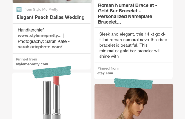 1. The Lace Shop, $38(similar) / 2. Gold Crush Jewelry, $64 / 3. Clinique, $17/ 4. BHLDN, $615