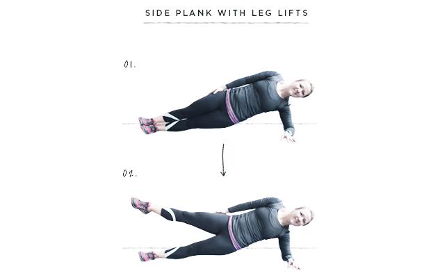 fitness, plank exercises