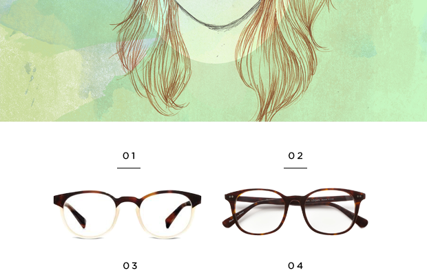 1. Warby Parker, $145 / 2. Classic Specs, $89 / 3.Warby Parker, $95 / 4. Warby Parker, $95 / 5. Warby Parker, $95 / 6. Classic Specs, $89