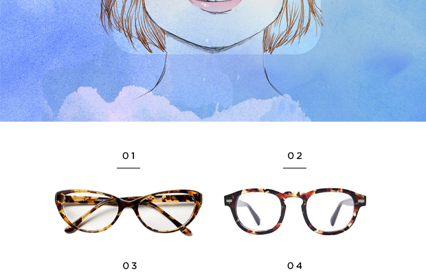 1. Classic Specs, $89/ 2. Warby Parker, $95/ 3. Warby Parker, $95 / 4. Warby Parker, $95 (similar) / 5. Eyefly, $94 / 6. Classic Specs, $89