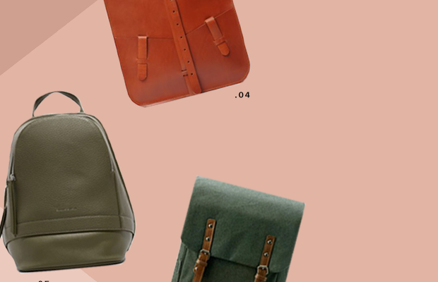 1. The Cambridge Satchel Company, $235 / 2. Aritzia, $325 / 3. Aritzia, $325 / 4. Ludena, $254 / 5. Charles & Keith, $89 / 6. Bokzim Bag, $73 / 7. Need Supply Co., $55 / 8. Matt & Nat, $150 / 9. Herschel Supply, $55 / 10. Keep an Eye Leather, $167