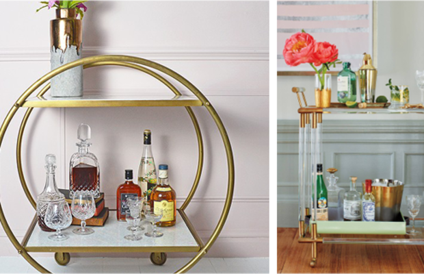Whether crafted ofround brass and whitemarble or Deco-inspiredlucite and brass, you can't go wrong with adding a stylish bar cart to your collection. You'll use it for years of entertaining to come.