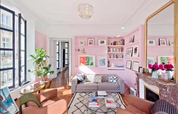 This French Elle Decor-worthy Airbnb would be just the place for Breakfast At Tiffany's eclectically feminine Holly Golightly.