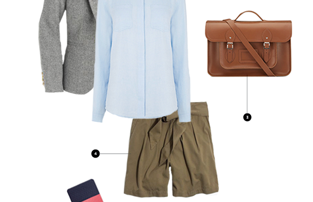 1. J.Crew, $198 / 2. Oasis, $49 / 3. The Cambridge Satchel Company, $255 / 4. Madewell, $60 / 5. Target, $10 / 6. ModCloth, $50