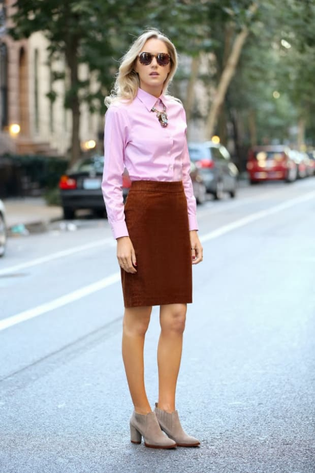 tan ankle boots with dress