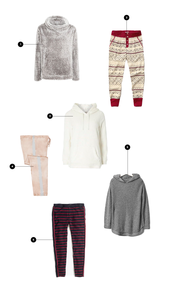 1. John Lewis, $38 (similar) / 2. Abercrombie & Fitch, $48 / 3. Dorothy Perkins, $28 / 4. ahalife, $175 / 5. Gap, $65 / 6. Madewell, $60