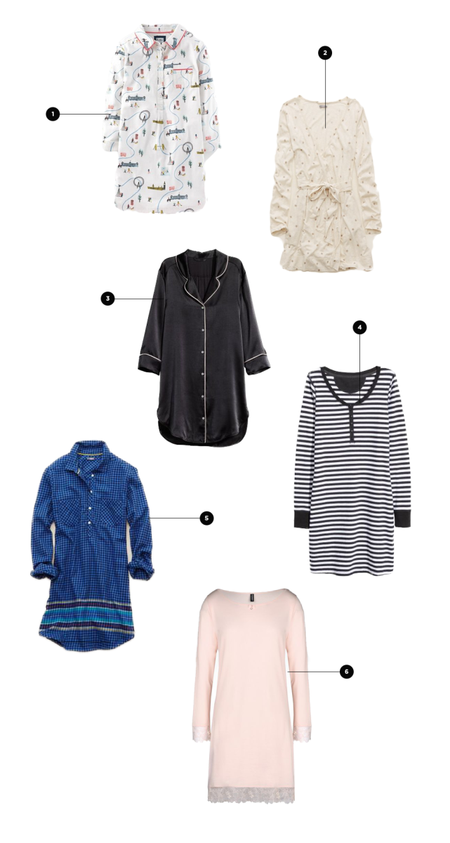 1. Boden, $78 / 2. Aerie, $24 / 3. ahalife, $224 / 4. H&M, $18 / 5. American Eagle, $21 / 6. Armani, $95