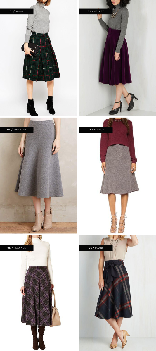 1. Asos, $99 / 2. ModCloth, $90 / 3. Anthropologie, $128 / 4. Shopbop, $112 / 5. House of Fraser, $106 / 6. ModCloth, $70