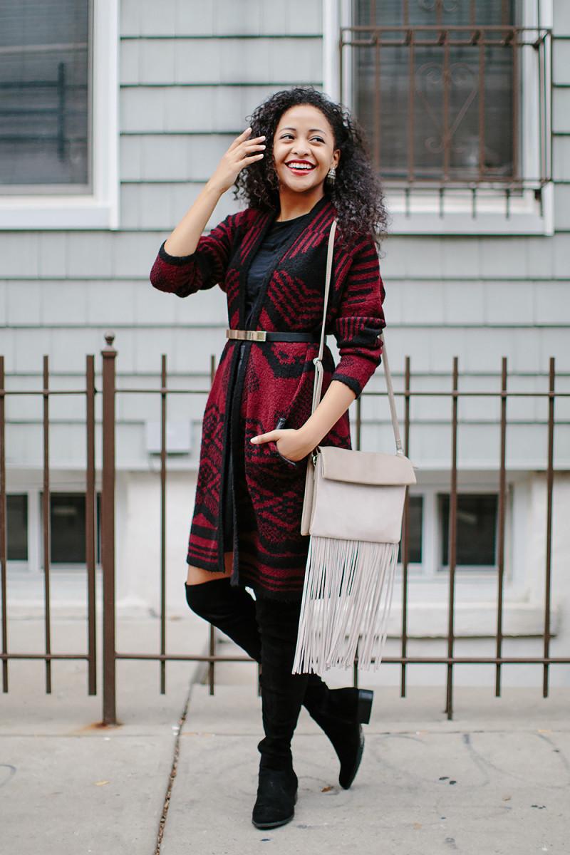1. Cardigan, Oasis, $45/ 2. Skirt, Oasis, $72 / 3. Bag, Oasis, $27(similar) / 4. Top, Mango, $18/ 4.Belt, Express, $15/ 5. Shoes, Urban Outfitters, $115 (similar)