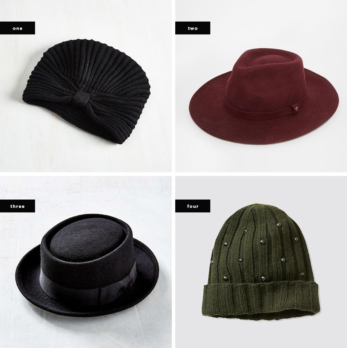 1. ModCloth, $16/ 2. Asos, $108 / 3. Urban Outfitters, $39 / 4. Banana Republic, $50
