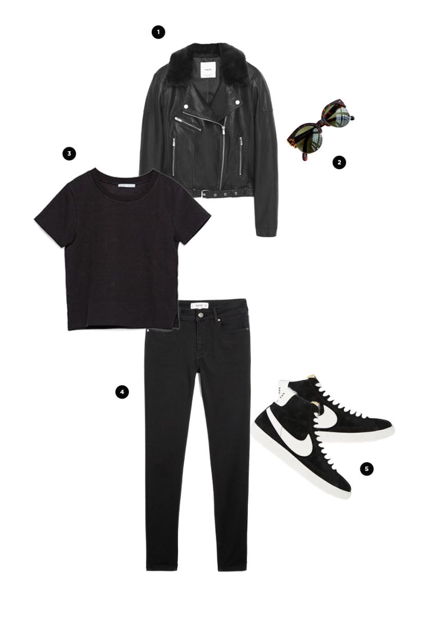 1. Mango, $60 / 2. Urban Outfitters, $18 / 3. Zara, $13/ 4. Mango, $35/ 5. Net-a-Porter, $50