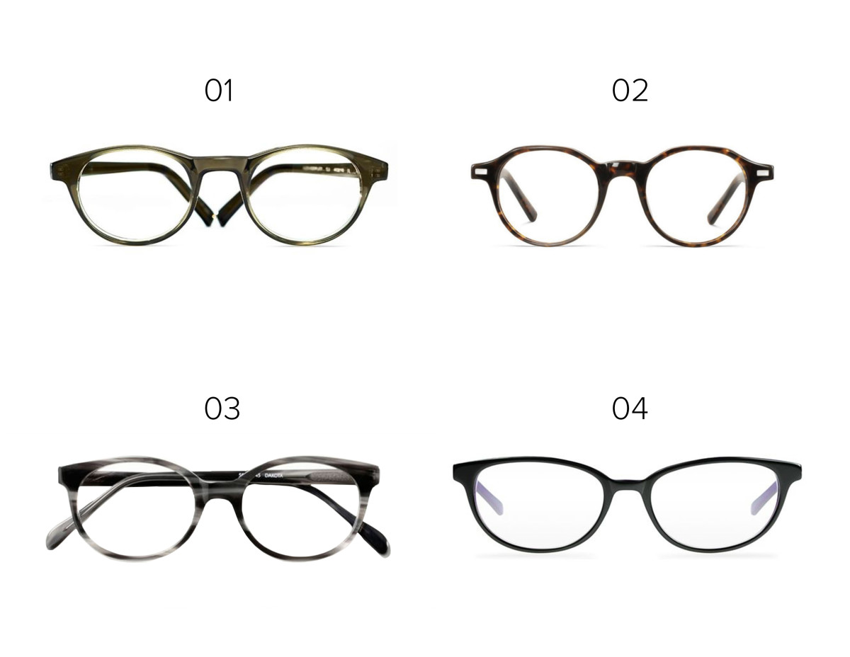 1. Eyefly, $94/ 2. Warby Parker, $95 / 3. Classic Specs glasses, $89 / 4. Lookmatic, $100