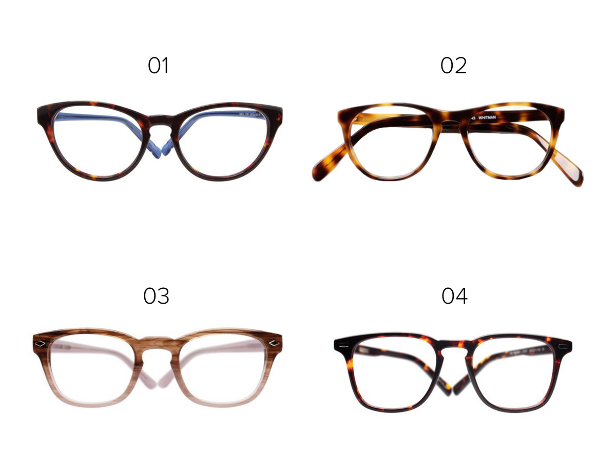 1. Eyefly, $139 / 2. Classic Specs glasses, $89/ 3. Eyefly, $94 / 4. Eyefly, $94