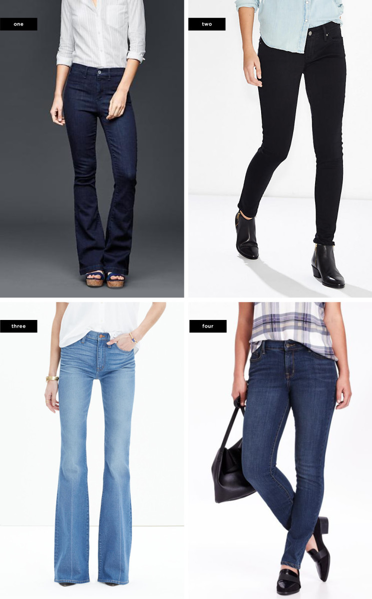 1. Gap, $50 / 2. Levi's, $50 / 3. Madewell, $115 / 4. Old Navy, $25