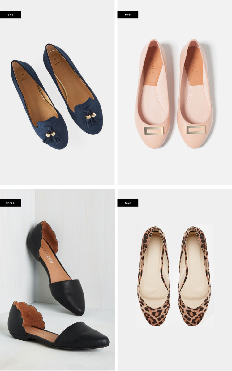 1.Oasis, $46/ 2. Zara, $30 / 3. ModCloth, $60 / 4. Asos, $23