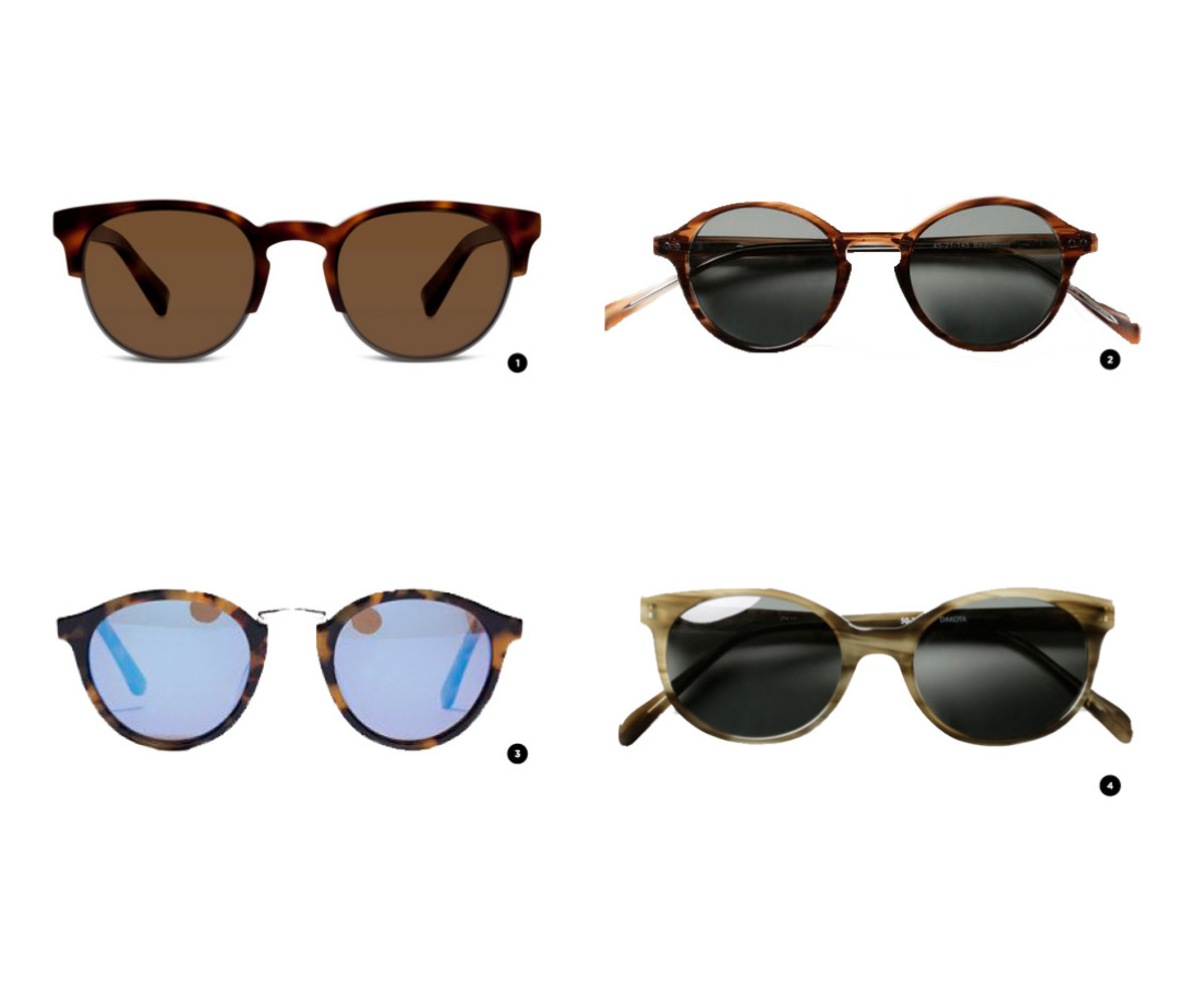 1. Warby Parker, $145 / 2. Classic Specs, $89 / 3. Madewell, $55/ 4. Classic Specs, $89