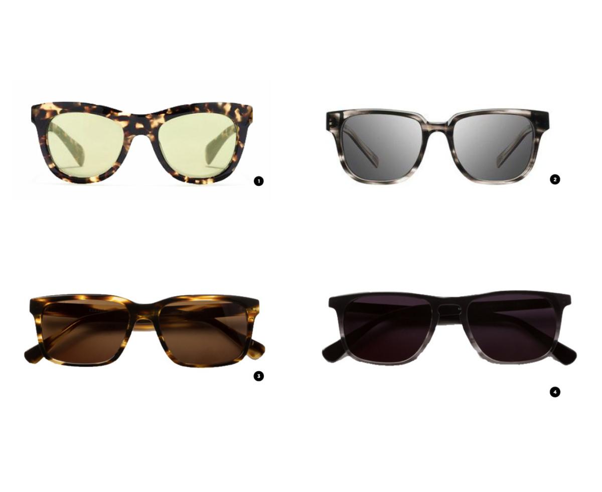 1.J.Crew, $128 / 2. Nordstrom, $149 / 3. Classic Specs, $89/ 4. Classic Specs, $89